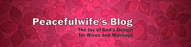Peacefulwife's Blog Banner