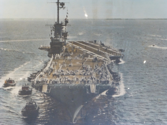 USS Lexington underway at sea