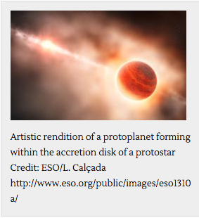 Artistic rendition of protoplanet