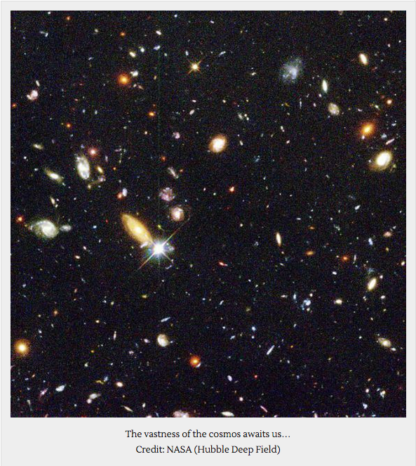 Deep Space - Each point of light a galaxy.