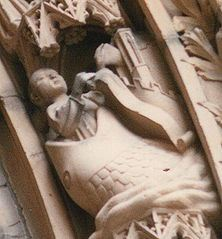Worms Cathedral carving depicting Jonah
