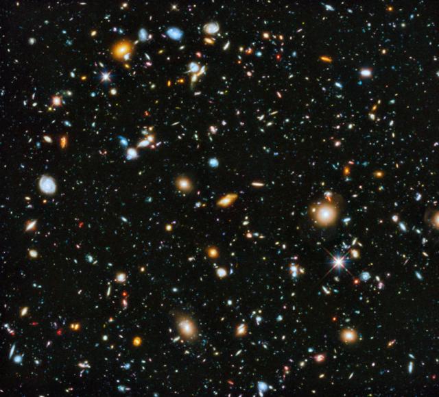 "The Hubble famous ""deep space"" photo"