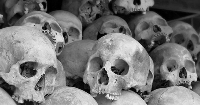 Victims of Pol Pot's Khmer Rouge Cambodian Genocide